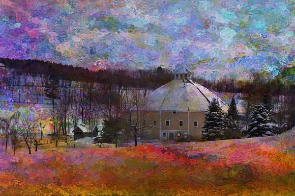Waitsfield Photograph - Vermont Round Barn by Patsy Zedar