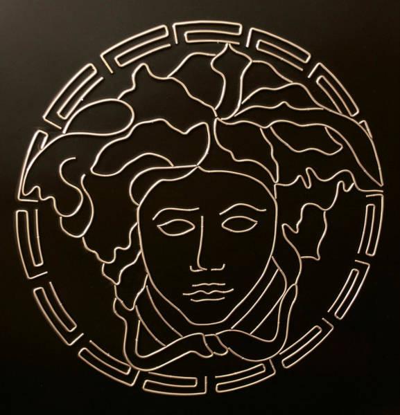 Logo Mixed Media - Versace Medusa Head by Peter Virgancz