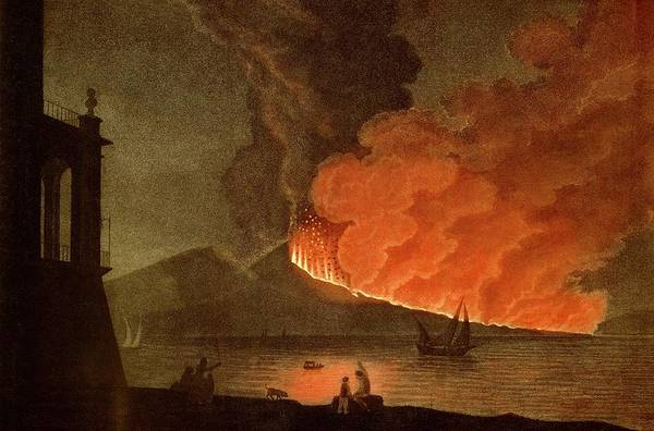 St. Lucia Photograph - Vesuvius Erupting by Royal Astronomical Society/science Photo Library