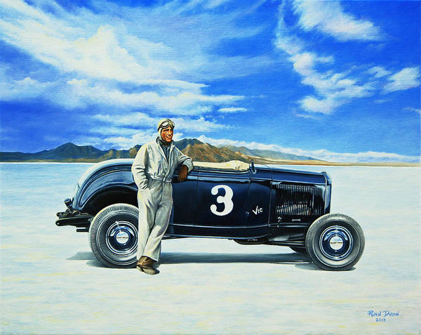 Roadster Wall Art - Painting - Vic Edelbrock #2 by Ruben Duran