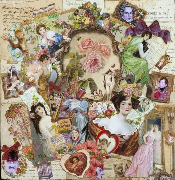 Harp Mixed Media - Victorian Beauty And Love by Jonell Restivo