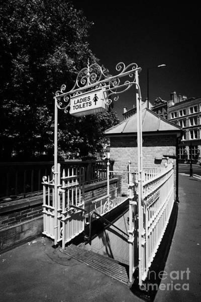 Toilet Photograph - victorian ladies public toilets smithfield London England UK by Joe Fox