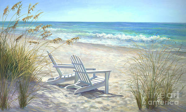 Florida Beach Painting - View For Two. by Laurie Snow Hein