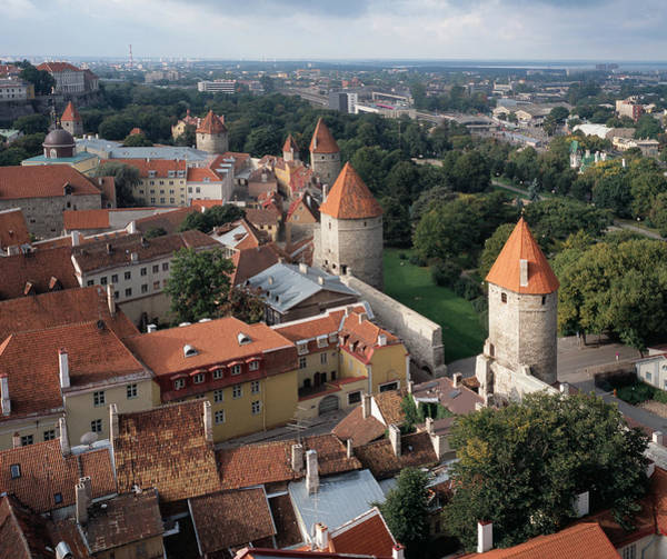 Photograph - View From Above Of Old Town Tallinn Estonia by Cliff Wassmann