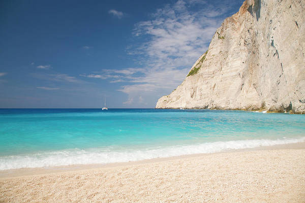 Water Photograph - View From Beach, Navagio Bay by David C Tomlinson