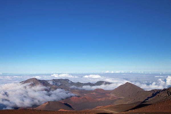 Haleakala Crater Photograph - View From Haleakala Crater by Sean Caffrey