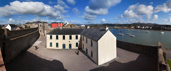 King Harbor Photograph - View From King Johns Castle, Dungarvan by Panoramic Images