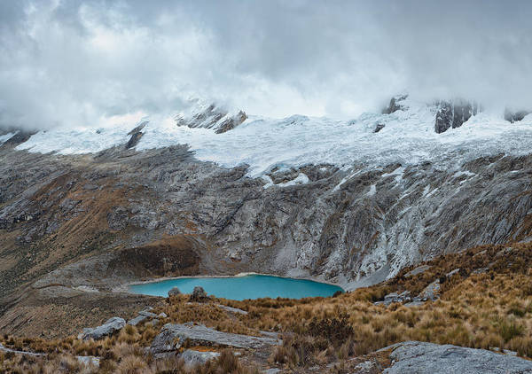 Photograph - View From Paso Punta Union On 4750m by U Schade