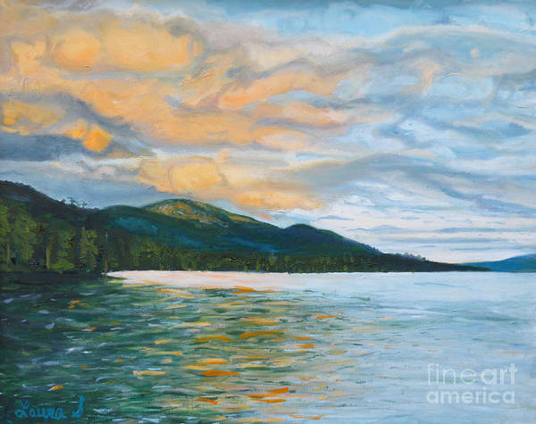 Adirondack Mountains Painting - View From Turtle Island, Lake George by Laura Sullivan