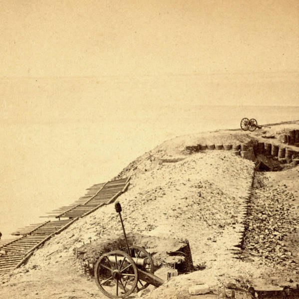 Fort Sumpter Photograph - View Of Fort Sumpter I.e. Sumter. On The Parapet by Litz Collection