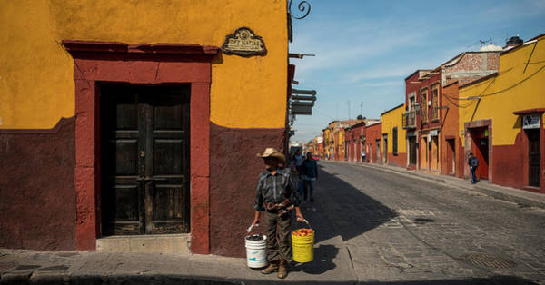San Miguel De Allende Photograph - View Of Houses Along A Street, San by Panoramic Images
