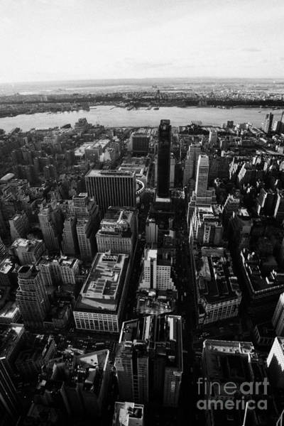 Reaching For The Sky Photograph - View Of Manhattan West Towards Hudson River And One Penn Plaza New York City by Joe Fox