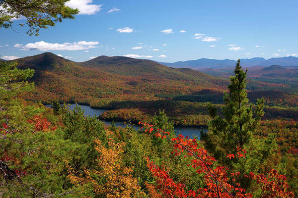 Adirondacks Photograph - View Of Mckenzie Pond From Mount Baker by Panoramic Images