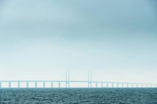 Skane Photograph - View Of Oresund Bridge by Johner Images