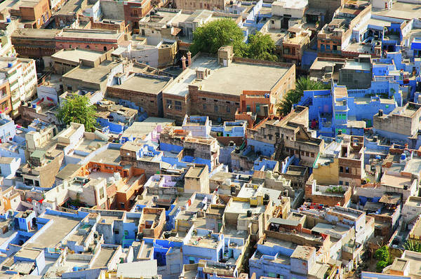 Singh Wall Art - Photograph - View Of The Blue City Of Jodhpur by Inger Hogstrom