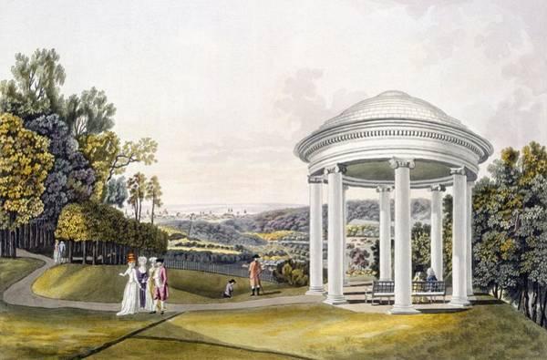 Palace Drawing - View Of The Park At Neu-waldeg by Laurenz Janscha