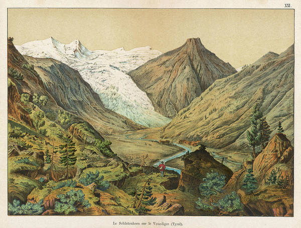 Wall Art - Drawing - View Of The Schlatenkees, One by Mary Evans Picture Library