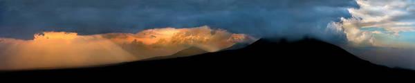 Rwanda Photograph - View Of Volcanoes At Sunset, Volcanoes by Panoramic Images