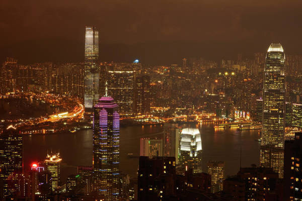 Wall Art - Photograph - View Over Kowloon, Victoria Harbor by David Wall