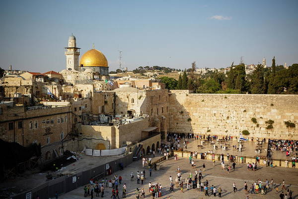 Jerusalem Photograph - View Over The Western Wall Wailing Wall by Yadid Levy / Robertharding