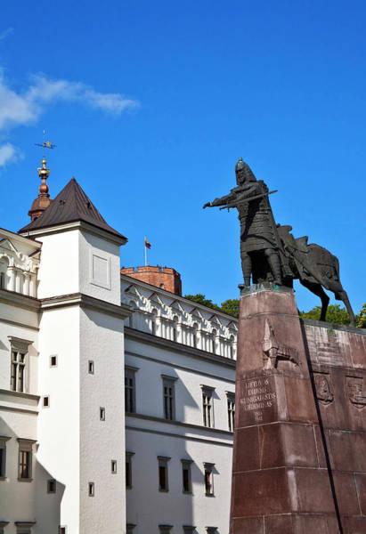 Vilnius, Lithuania, Lietuva, Monument Art Print