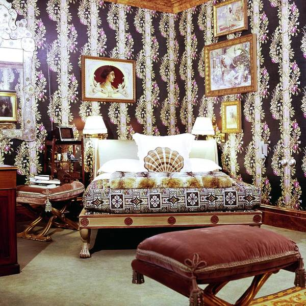 Wall Art - Photograph - Vincent Fourcade's Bedroom by Horst P. Horst