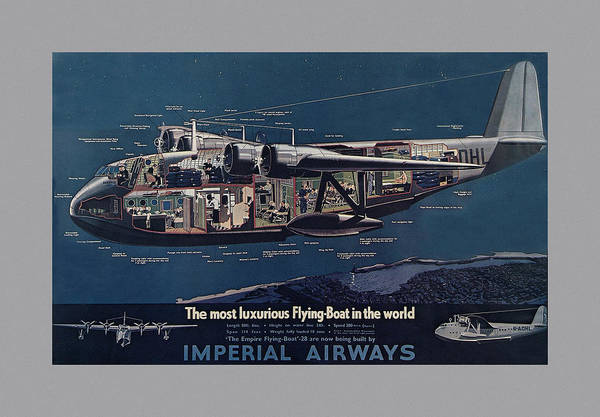 Photograph - Vintage Airline Ad 1936 by Andrew Fare