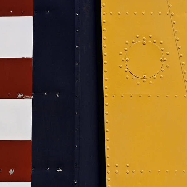 Detail Wall Art - Photograph - Vintage Airplane Abstract Design by Carol Leigh