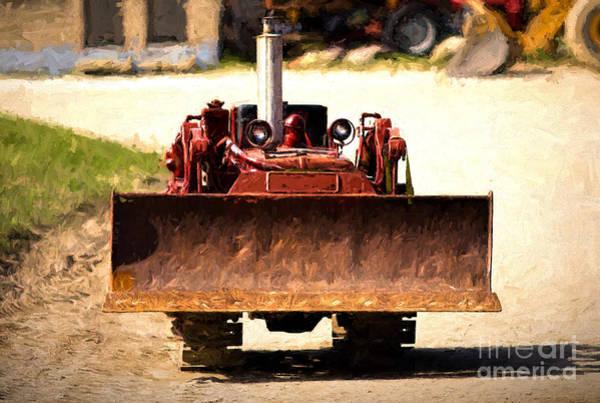 Digital Art - Vintage Bulldozer by Les Palenik