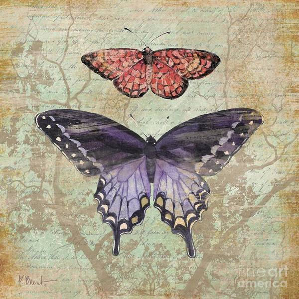 Monarch Painting - Vintage Butterfly Iv by Paul Brent