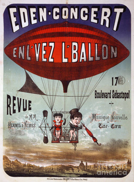 Photograph - Vintage French Circus Poster by Edward Fielding