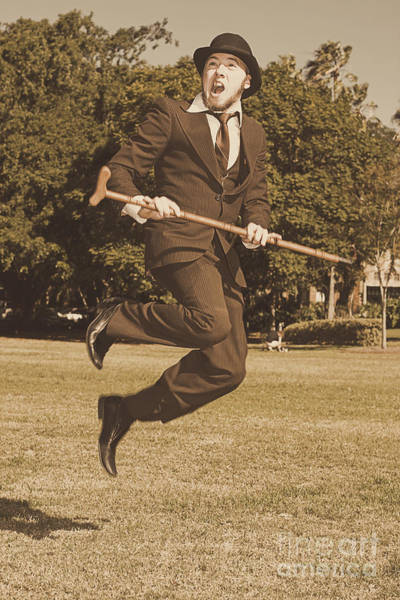 Businessman Photograph - Vintage Happy Dance by Jorgo Photography - Wall Art Gallery