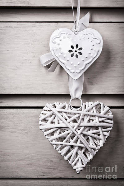 Wall Art - Photograph - Vintage Hearts by Jane Rix