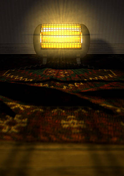 Warmth Digital Art - Vintage Heater On Persian Carpet by Allan Swart