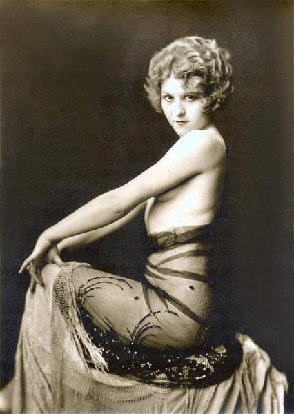 Boudoir Digital Art - Vintage Nude Postcard Image by Unknown
