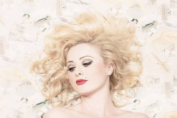 Pinup Photograph - Vintage Pinup Girl With Classic Blond Hair Style by Jorgo Photography - Wall Art Gallery