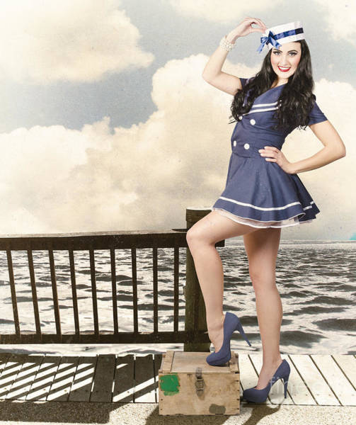 Photograph - Vintage Sailor Girl. World Tour Travel Cruise by Jorgo Photography - Wall Art Gallery