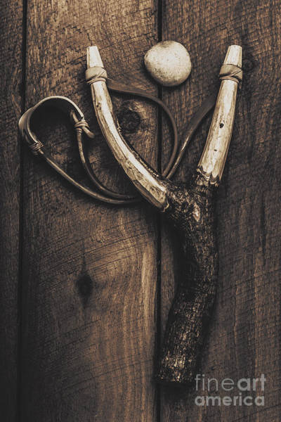 Photograph - Vintage Toy Slingshot On Wooden Cubby House Floor by Jorgo Photography - Wall Art Gallery