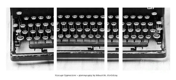 Compose Wall Art - Photograph - Vintage Typewriter by Edward Fielding