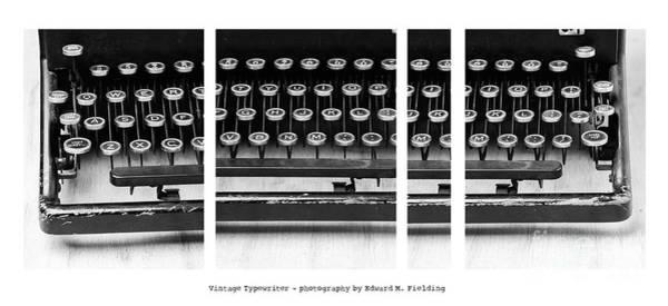 Typewriters Wall Art - Photograph - Vintage Typewriter by Edward Fielding
