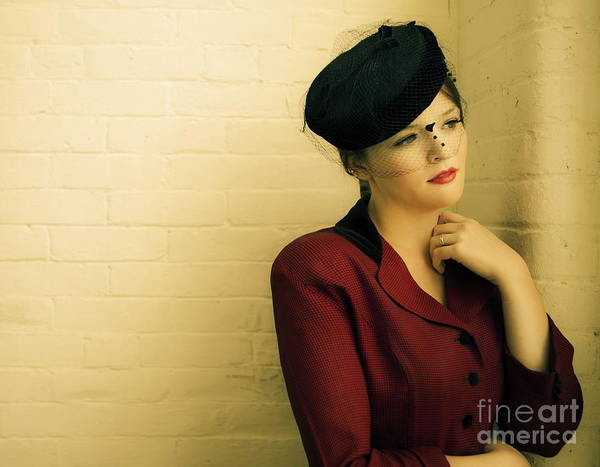Wall Art - Photograph - Vintage Woman by Diane Diederich