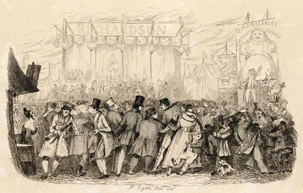 Wall Art - Drawing - Visitors To Greenwich Fair  Enjoy by Mary Evans Picture Library