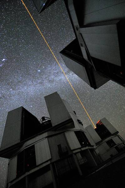 Facilities Photograph - Vlt Laser Guide Star Facility by European Southern Observatory/g. Hudepohl/science Photo Library