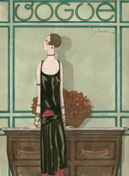 February 1st Digital Art - Vogue Magazine Cover Featuring A Woman Wearing by Georges Lepape