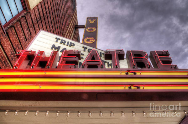Manistee Photograph - Vogue Theatre by Twenty Two North Photography