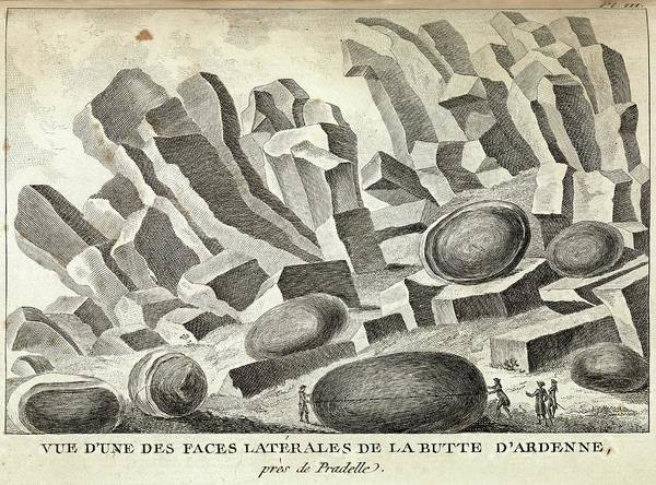 Basalt Columns Photograph - Volcanic Basalt Formations by Royal Institution Of Great Britain