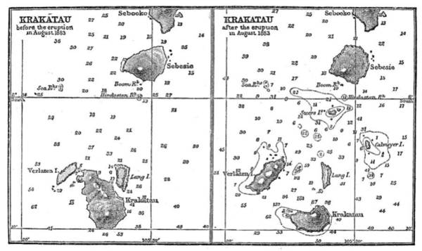 Photograph - Volcano: Krakatau, 1883 by Granger