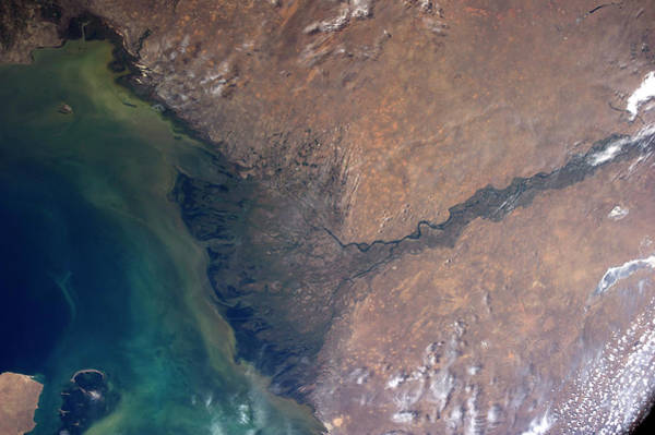 Delta Photograph - Volga River Delta by Nasa