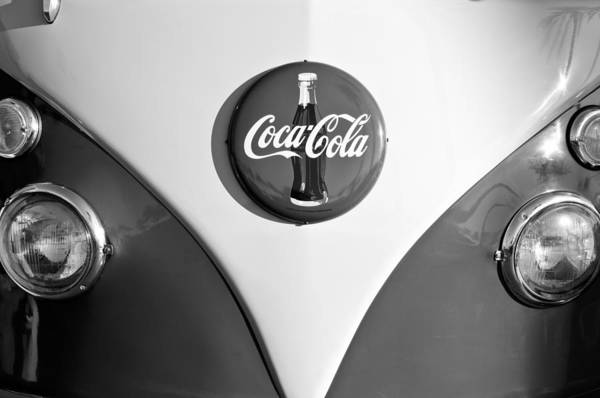 Volkswagen Photograph - Volkswagen Vw Bus Coco Cola Emblem by Jill Reger