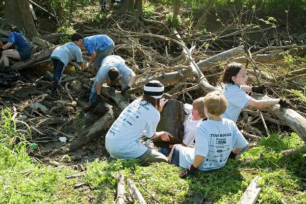 Non Profit Photograph - Volunteers Clearing Logs by Jim West